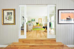 Simple clean living room