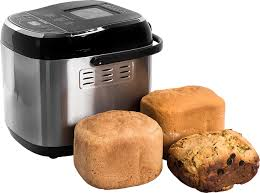 bread maker and loaves of bread