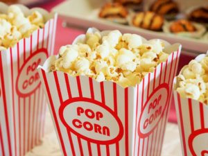 pop corn in stripe packages